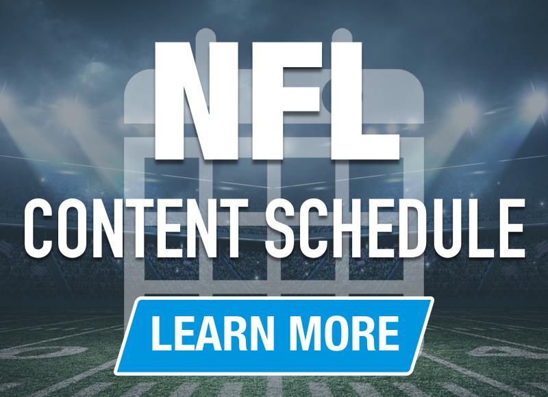 RotoGrinders NFL Content Schedule